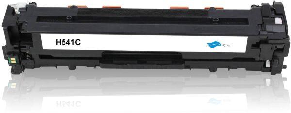 Frontalansicht des HP CB541A kompatiblen Toners in Cyan