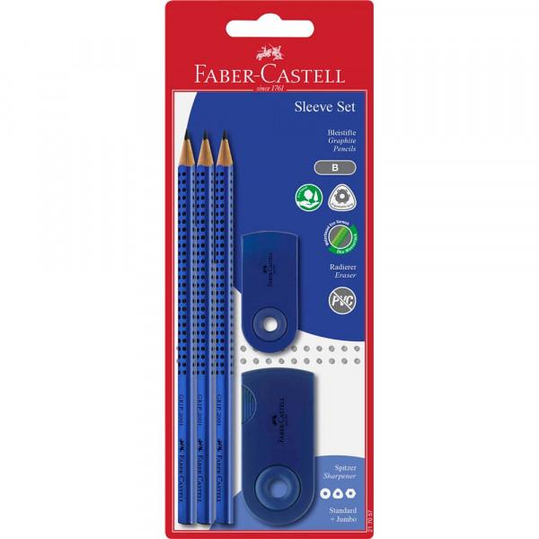 Faber-Castell Grip 2001 Bleistift-Set blau (5er Set)