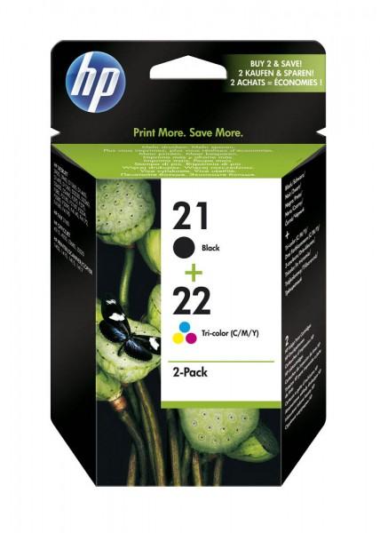 HP 21 / 22 / SD367AE Tinten Multipack (1x Black / 1x Color)