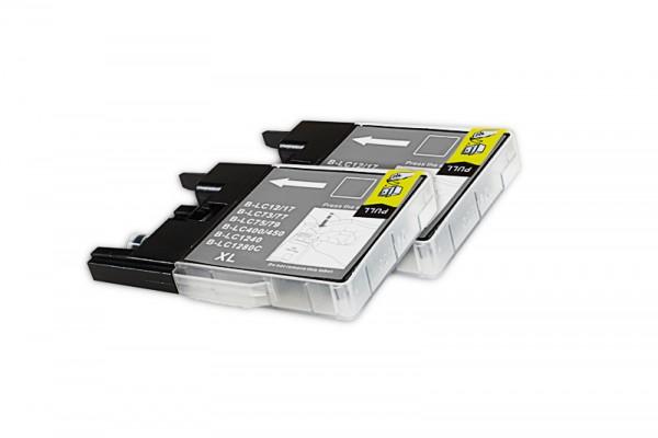Kompatibel zu Brother LC-1280 XL BK Tinte Black XXL (2 Stück)