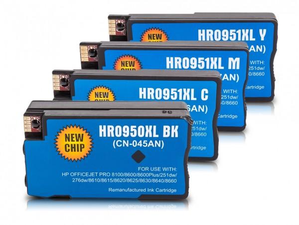 Kompatibel zu HP 950 XL / HP 951 XL / C2P43AE Tinten Multipack CMYK (4er Set)