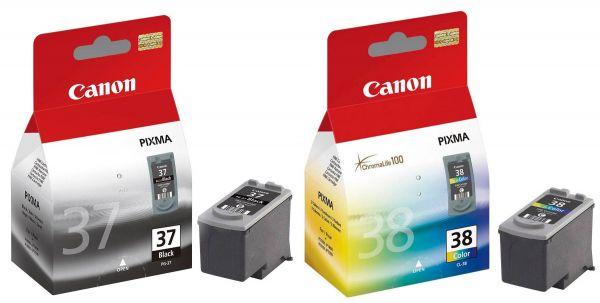 Canon PG-37 / CL-38 Tinten Multipack (1x Black / 1x Color)