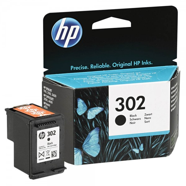 HP 302 / F6U66AE Tinte Black