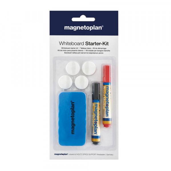 magnetoplan Whiteboard Starter-Kit (4x Magnete, 2x Marker, Tafellöscher)
