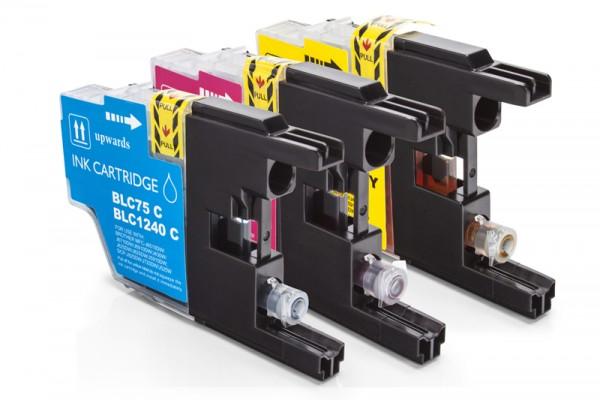 Kompatibel zu Brother LC-1240 RBWBPDR Tinten Multipack CMY (3er Set)