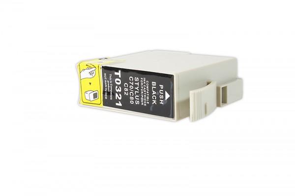 Kompatibel zu Epson C13T03214010 / T0321 Tinte Black