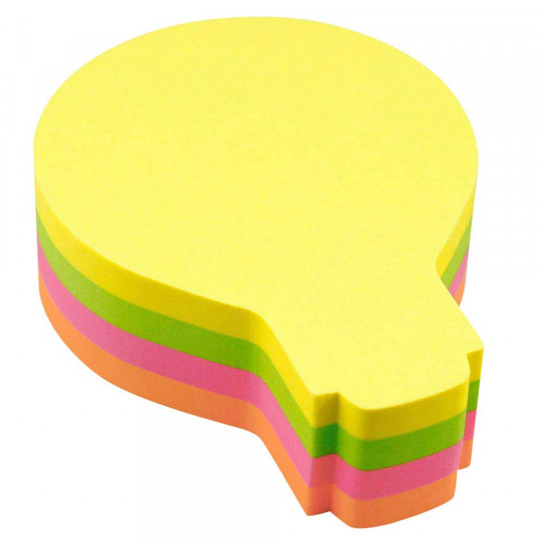 Info 5828-39 Haftnotizen Glühbirne mehrfarbig (1 Block a 200 Blatt)