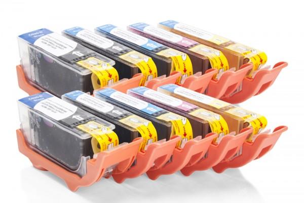 Kompatibel zu Canon PGI-520 / CLI-521 Tinten Multipack CMYK (10er Set)