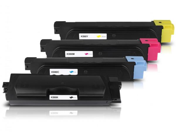 Kompatibel zu Kyocera TK-590 Toner Multipack CMYK (4er Set)