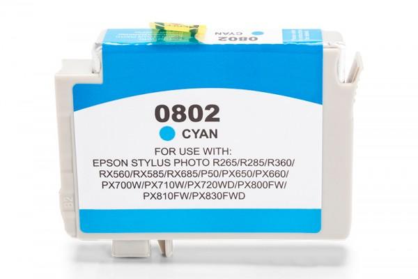 Kompatibel zu Epson T0802 / C13T08024010 Tinte Cyan