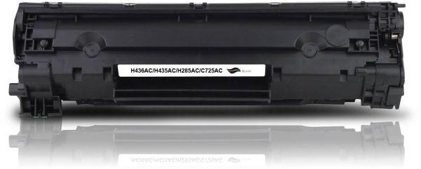 Frontalansicht des HP CE285A kompatiblen Toners in Schwarz