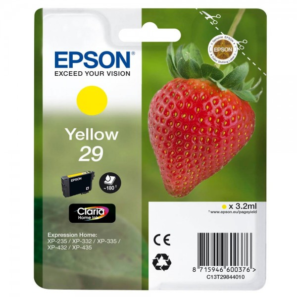 Epson 29 / C13T29844012 Tinte Yellow