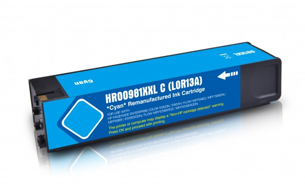 Alternativ zu HP 981Y / L0R13A Tinte Cyan