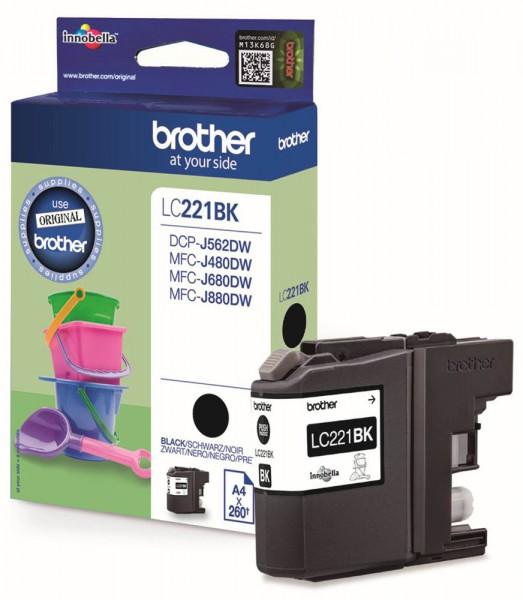 Brother LC-221 BK Tinte Black