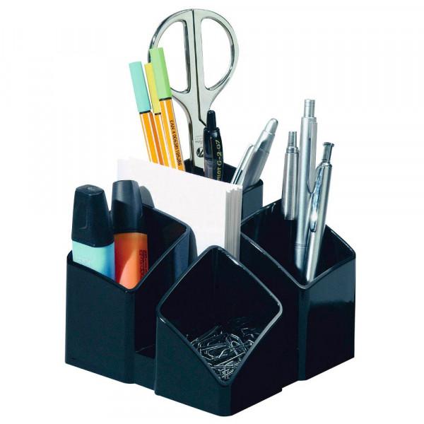 HAN Stiftehalter Scala vier Fächer und Brief- und Kartenständer schwarz