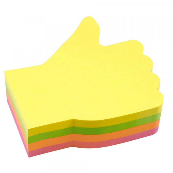 Info 5825-39 Haftnotizen Daumen hoch mehrfarbig (1 Block a 200 Blatt)