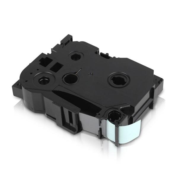 Kompatibel zu Brother TZE-141 P-Touch Schriftband 18mm Schwarz auf Transparent