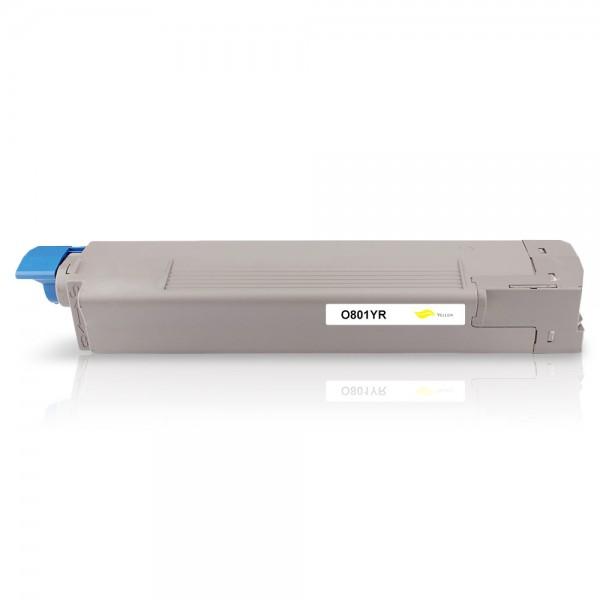Kompatibel zu OKI 44643001 / C801 Toner Yellow